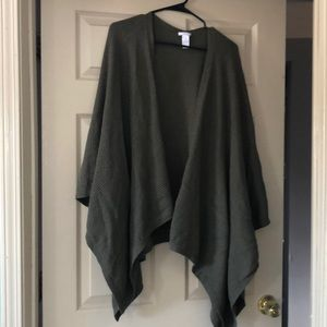 J Jill olive wrap sweater.  One size fits all.